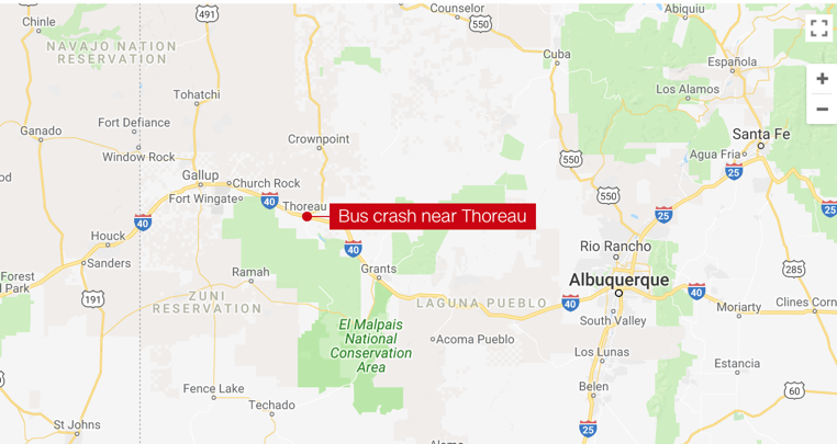 Greyhound Bus Accident Lawyers  New Mexico I 40
